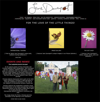 Jane Davenport's photography website