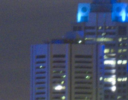 Panasonic FZ50 Digital Camera Image Noise Night Test