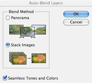 Photoshop CS4 Extended Depth of Field