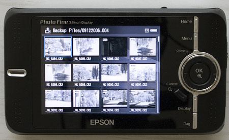 Epson P-4500 multimedia storage viewer