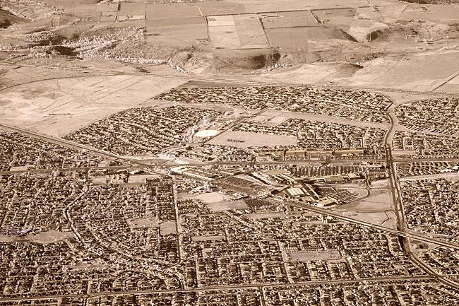Infrared aerial photography by Wayne J. Cosshall