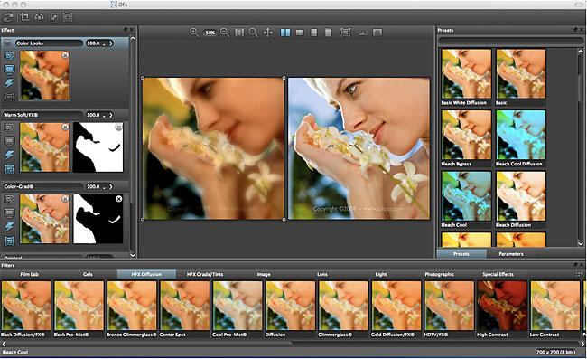 Tiffen Dfx filter software for Photoshop